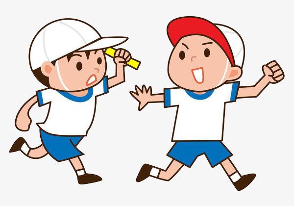 un enfant avec un chapeau de passer le relais dessin de