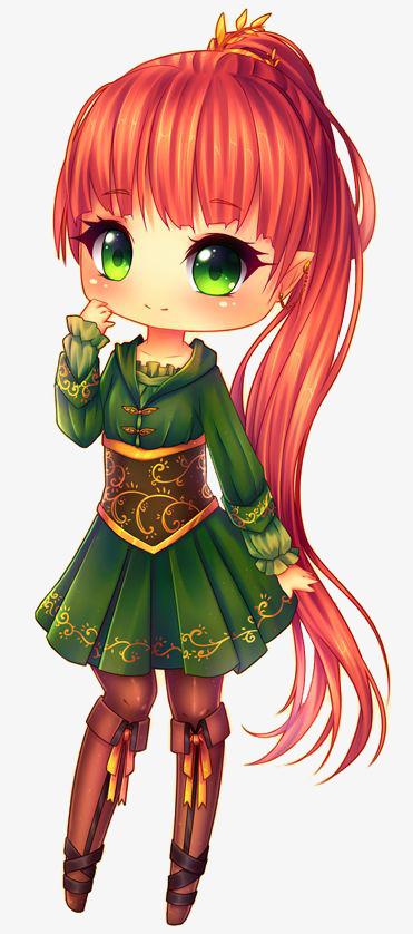 La Fille Rousse à Longue Queue De Cheval Vert Queue De Cheval Moe