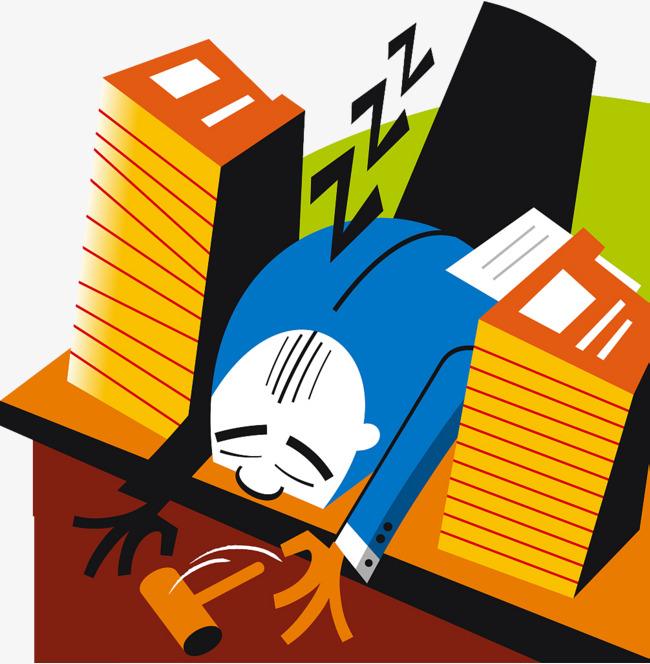 Asthénie Illustration Endormi Le Malaise Le Travail Est Fatigué L ...