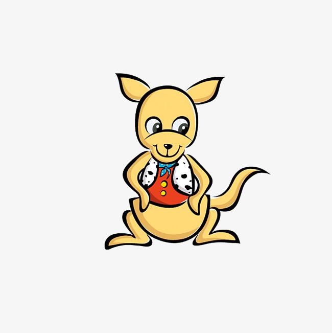 debout les mains sur les hanches de kangourou kangourou de