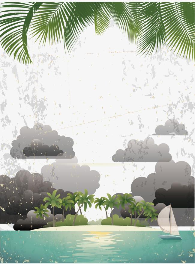 Ini Pemandangan Pantai Vektor Ilustrasi Pemandangan Pemandangan
