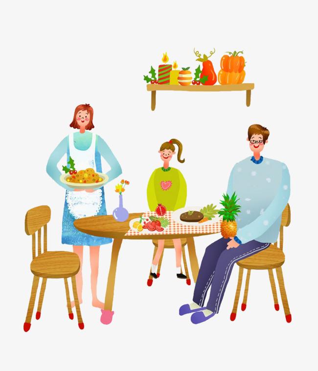 family eating clip art - 650×758