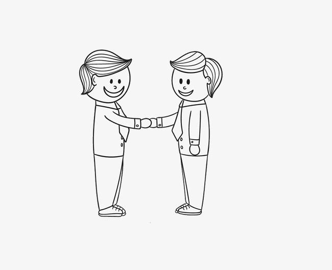 They Stick Figure Handshake Handshake Clipart Shake