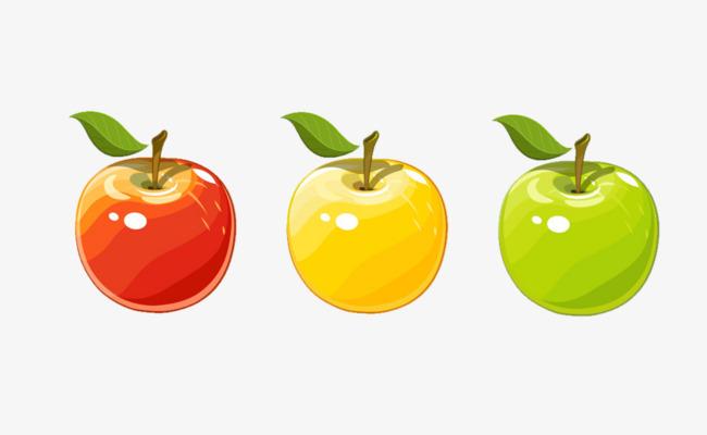 Tres Manzanas De Color Rojo Amarillo Verde Imagen PNG para Descarga ...