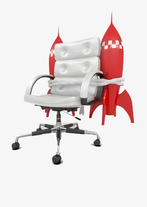 Attirant Tied Rocket Chair, Rocket Clipart, Flying, Speed PNG Image And Clipart