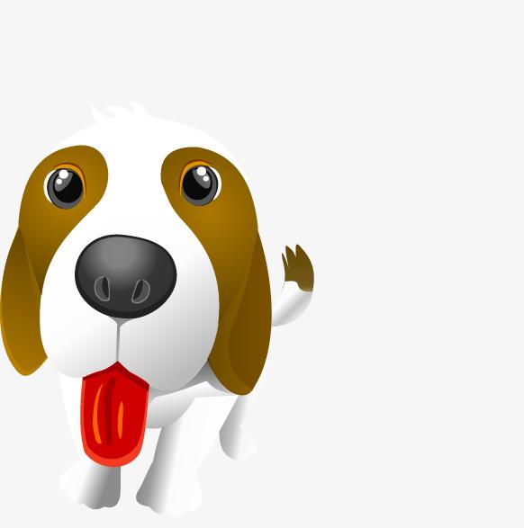 Lengua Cachorro Lovely Cartoon Perros PNG y Vector para Descargar Gratis