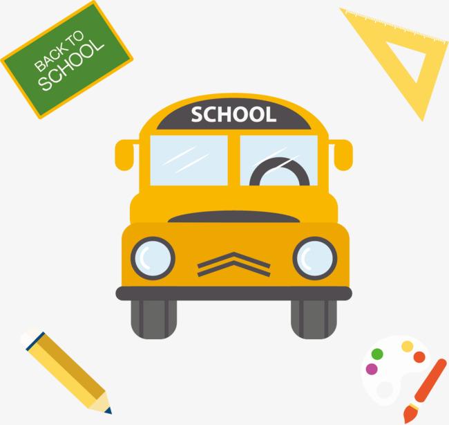 le bus de l  u00e9cole de formation plat jaune jaune bus jaune
