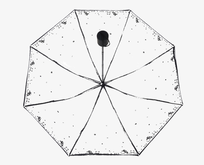 Transpa Black Side Long Handle Umbrella Hd Picture Clipart