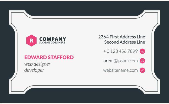 Transparente Visitenkarte Vorlage Material Business