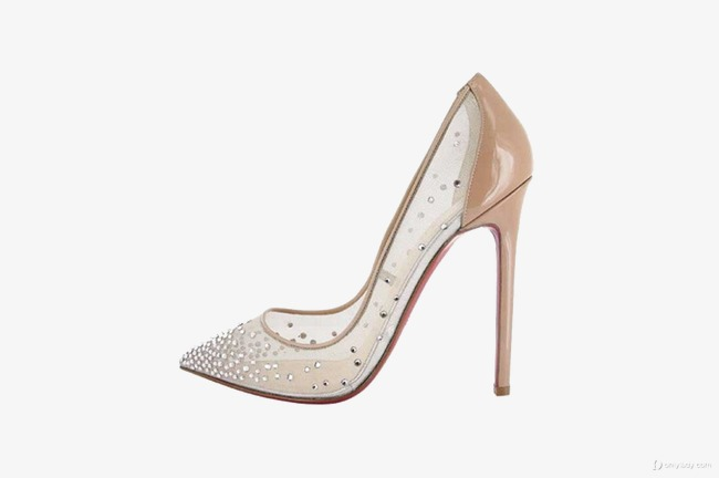 f58eb131e73a Transparent Flesh-colored High Heels