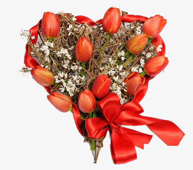 La Tulipe Du Coeur De Bouquets De Fleurs Tulipe Rouge Coeur Fichier