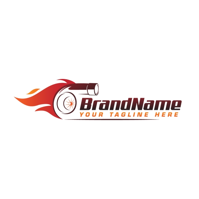 Turbo Fire Performance Auto Logo Automotive Logo Design Vector