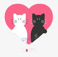 Two Cute Kittens Cute Clipart Valentines Day Romantic Png Image