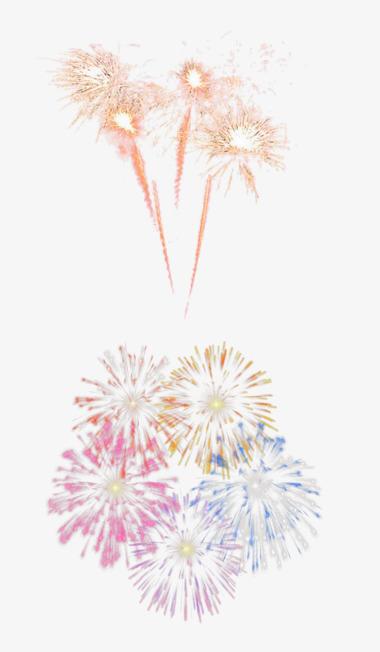 Dos Tipos De Magnificos Fuegos Artificiales Dibujos Animados De