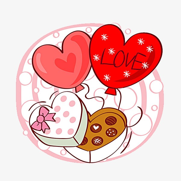 Valentine Chocolate Box Chocolate Clipart Illustration Heart