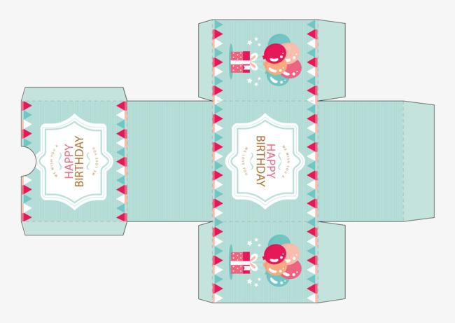 Ilustrasi Pembungkusan Kotak Kek