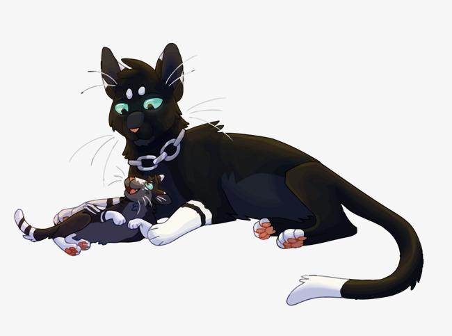 Le Vecteur De Chat Noir Le Chat Noir Dessin Mignon Png Et Vecteur