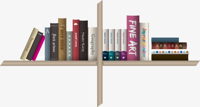 Vector Books Book Bookshelf PNG And