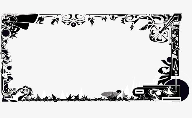 Vektor Sempadan Bingkai Kotak Bunga Corak PNG Dan Vektor
