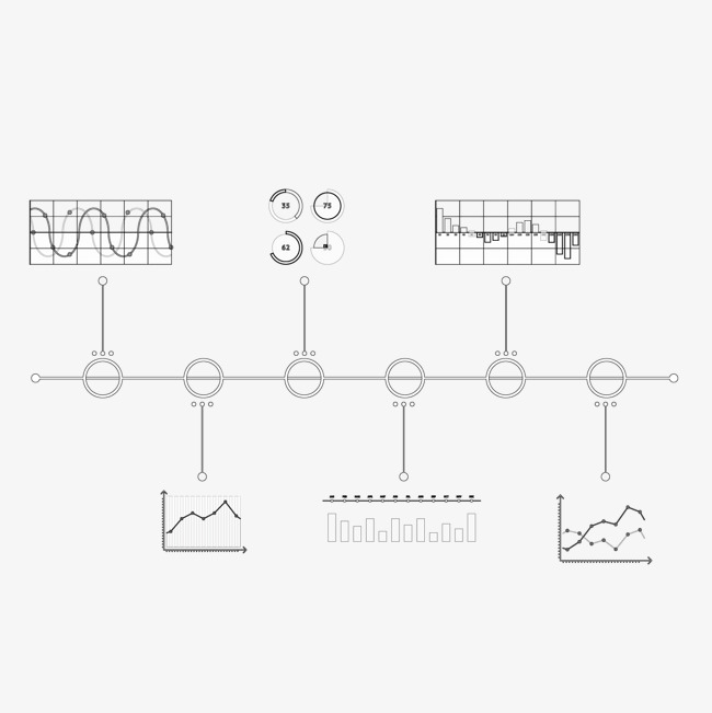 vector business graphs statistics timeline business vector