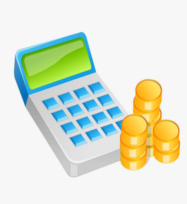 Vector Calculator And Gold Coin Png
