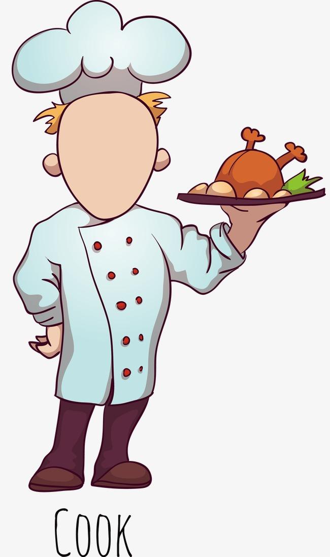 Vector Cartoon Chef, Cartoon Vector, Chef Vector, Roast ...