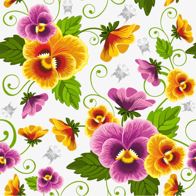 Flores De Colores Festivos Vector De Dibujos Animados Vector Cartoon