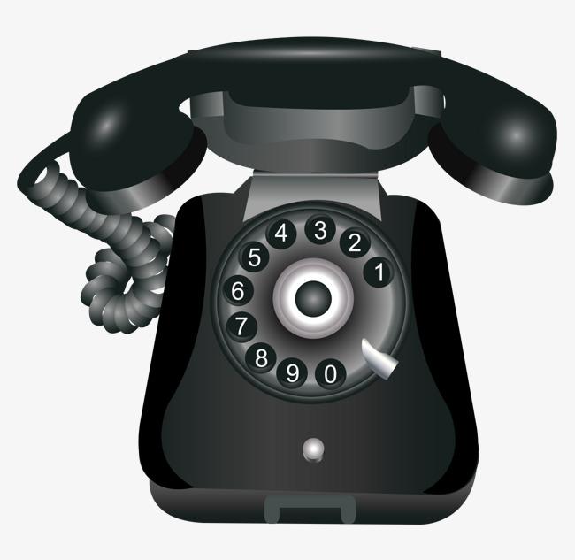 la main noire classique de t u00e9l u00e9phone de dessin vectoriel