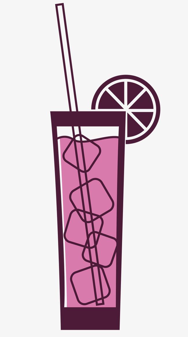 Viola un vettore di cartone di succo d uva vettore i cartoni animati