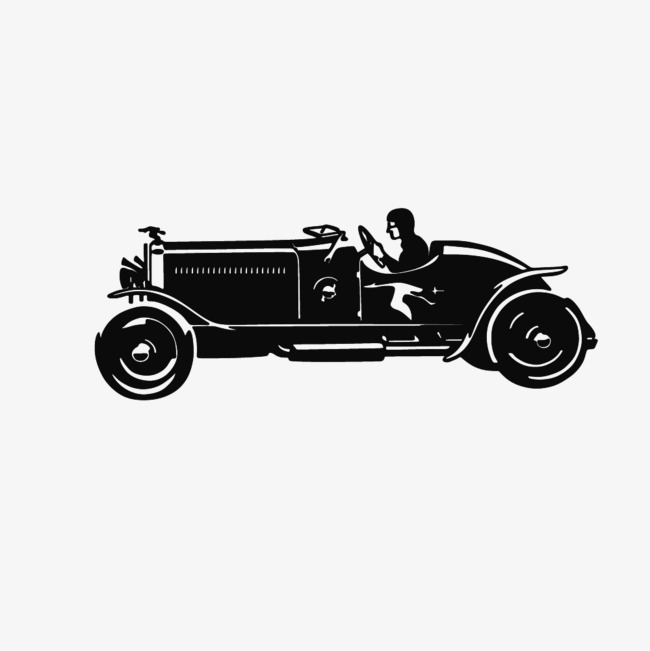 Vector Drawing Retro Convertible Classic Cars Draw Reminiscence
