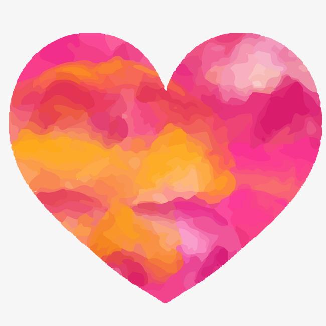 Vector Dibujos Pintados A Mano Acuarela Del Amor Diagrama Vectorial