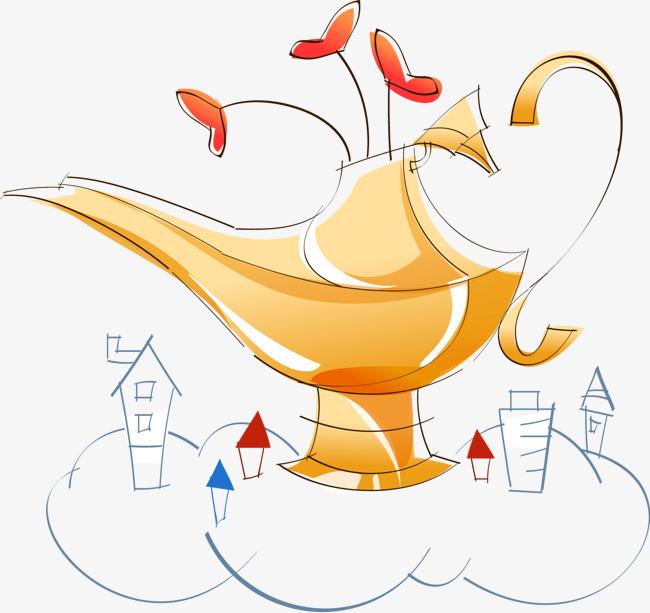 Vecteur D Illustration De La Lampe Magique La Lampe Allah Fantasme