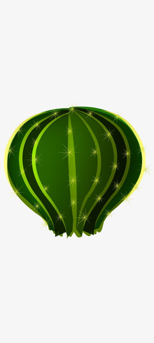 Echinopsis tubiflora vector cây xanh thảm thực vật hoạt hình đáng yêu. Miễn phí PNG và Vector