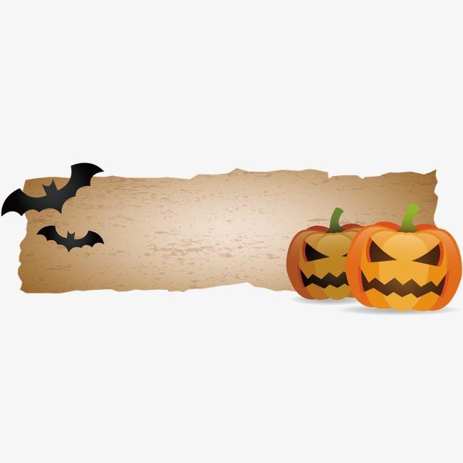 Vector Decoracion De Halloween De Papel Retro Calabaza Alimentos PNG ...