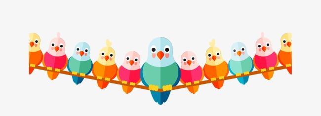 Vektor Tangan Dicat Burung Burung Burung Burung Burung Kartun Burung