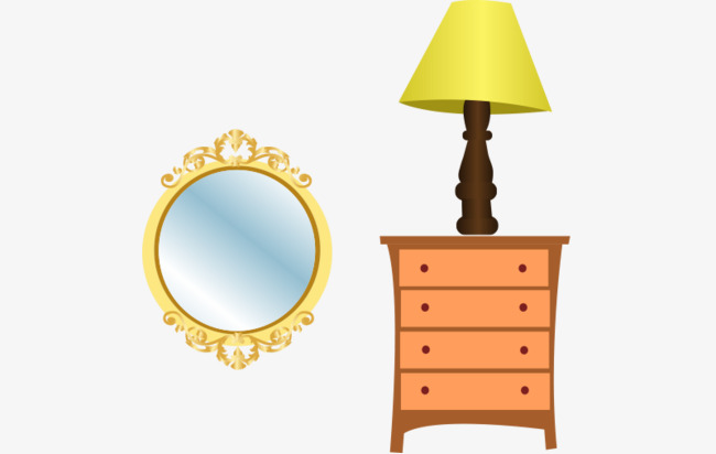 Vector Household Furniture Home Supplies Bedside Cabinet Vector
