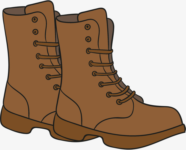 Vector Illustration Of Boots, Cartoon, Hand Painted, Boots ...