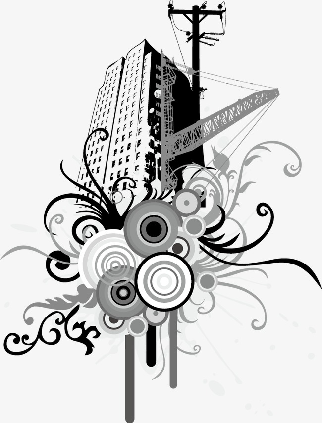 Vector Illustration Skyscrapers Skyscrapers House Vector And