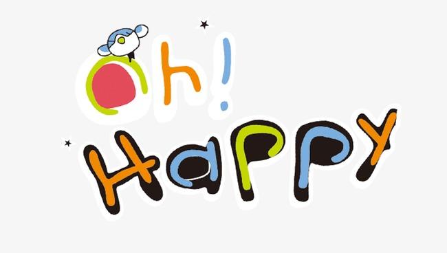 joli anglais de vecteur heureux dessin mot de dessin