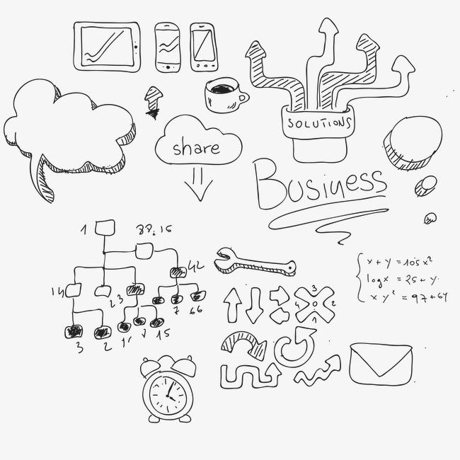 Simbolos De Funcion Matematica De Vectores Gray Dibujo De Linea
