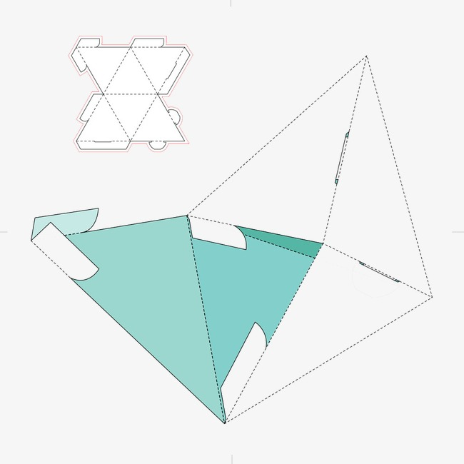 Vector Packaging Design Triangle Package Green Png And Vector For