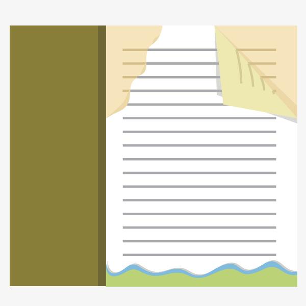 Vector Pagina De Hojas Sueltas De Papel De Cuaderno De Rayas Vector ...