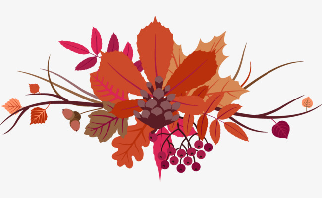 vector pattern flowers leaves pattern vector thanksgiving vector