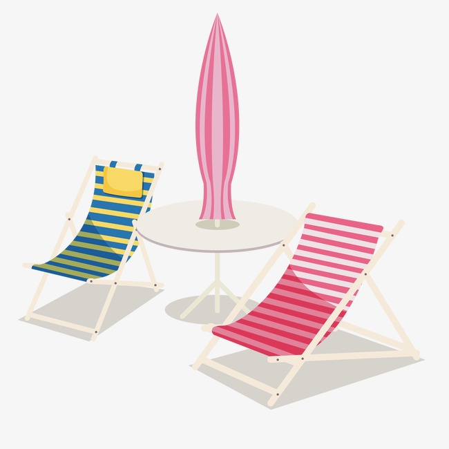 Vector Striped Beach Chair Chairs Png And
