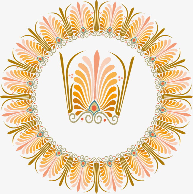 Vector Yellow Leaves Yellow Leaves Pattern Ring And Vector
