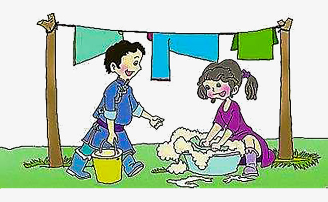 Wash Clothes Together, Clothes Clipart, Mother Washed ...