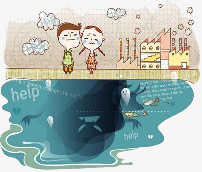 La Contaminación Del Agua De Dibujos Animados La Contaminación Del