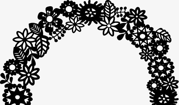 Wedding Flower Door Design Flower Clipart Wedding Clipart Black