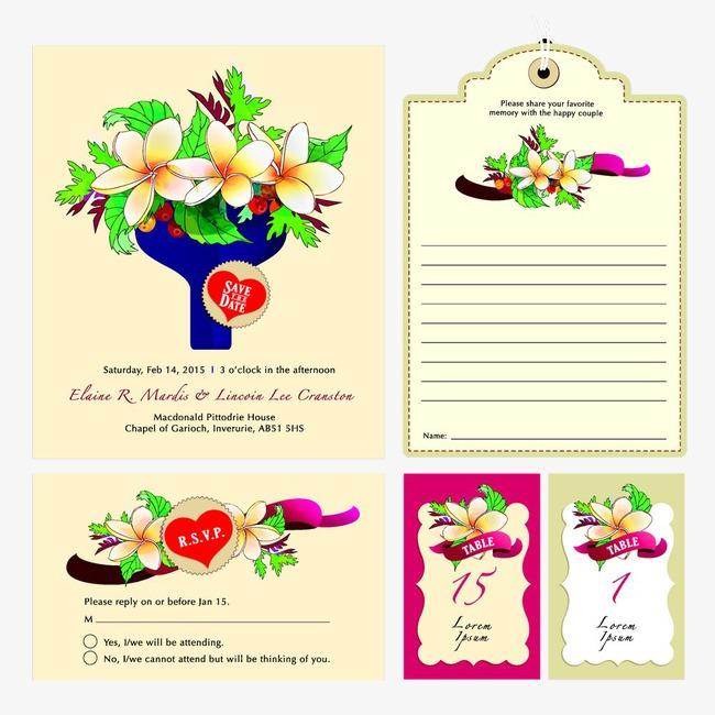 Wedding Invitation Vector Wedding Vector Creative Invitation Card