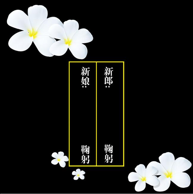 Invitation De Mariage De Fleurs Blanches Le Motif Decoratif De